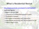 what is residential revival