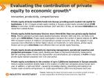 evaluating the contribution of private equity to economic growth1
