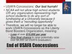 end of usafa concessions