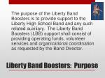 liberty band boosters purpose