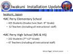 iwakuni installation update