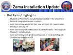 zama installation update1