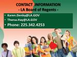 contact information la board of regents