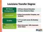 louisiana transfer degree