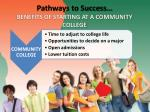 pathways to success benefits of starting at a community college