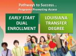 pathways to success programs promoting access