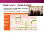 roadmapping simple template