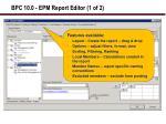 bpc 10 0 epm report editor 1 of 2
