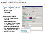 create and use links between workbooks