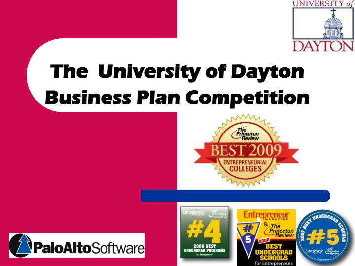 the university of dayton business plan competition n.