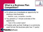 what is a business plan competition