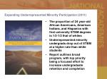 expanding underrepresented minority participation 2011