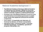 national academies background i