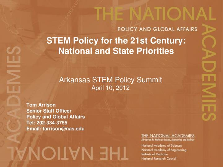 stem policy for the 21st century national and state priorities n.
