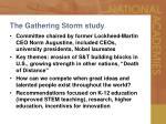 the gathering storm study