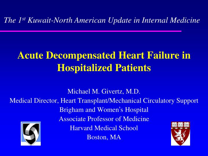 acute decompensated heart failure in hospitalized patients n.