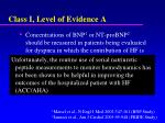 class i level of evidence a