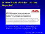is there really a role for low dose dopamine