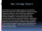 new college majors