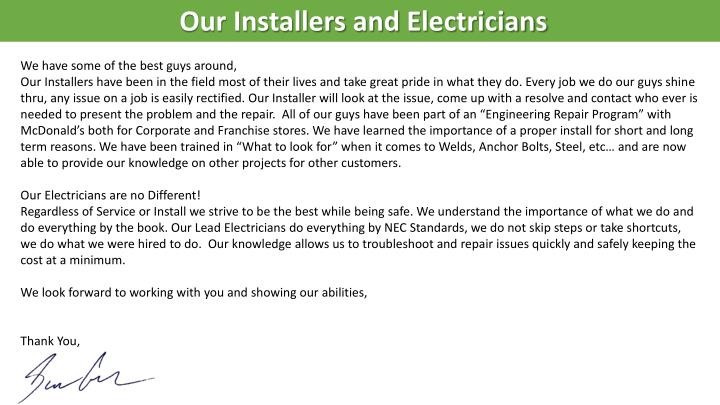 Our Installers