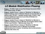 lo module webification phasing