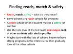 finding reach match safety