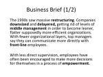 business brief 1 2