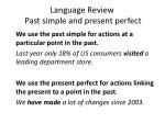 language review past simple and present perfect