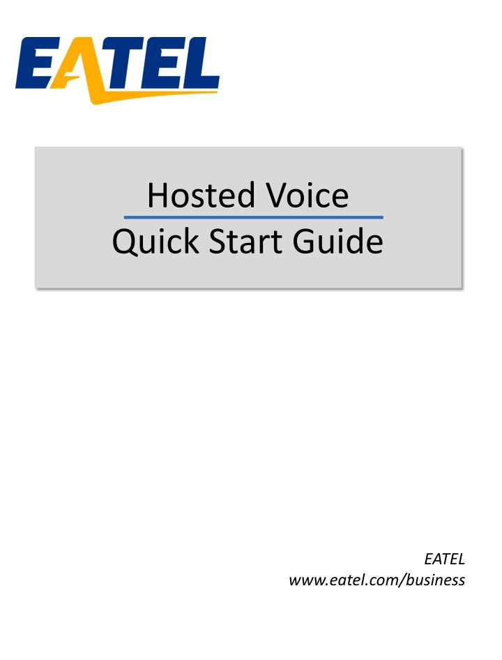 hosted voice quick start guide n.