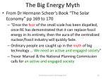 the big energy myth
