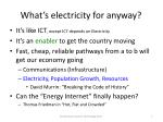 what s electricity for anyway