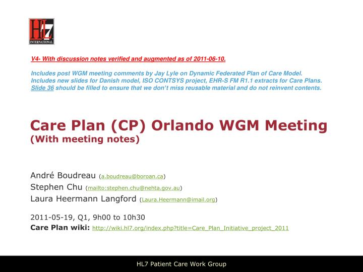 care plan cp orlando wgm meeting with meeting notes n.