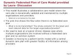 dynamic federated plan of care model provided by laura discussion