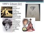 1890 s gibson girl