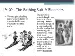 1910 s the bathing suit bloomers