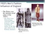 1920 s men s fashion influence of england