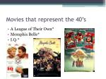 movies that represent the 40 s