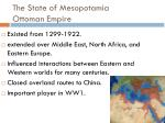 the state of mesopotamia ottoman empire
