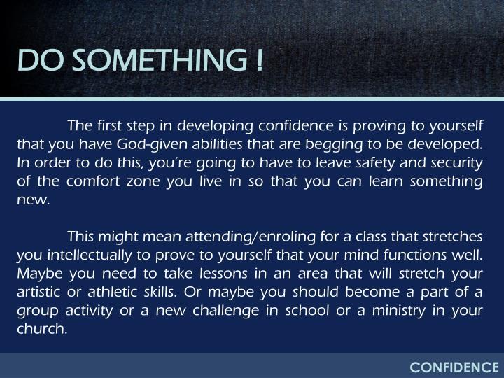 DO SOMETHING !