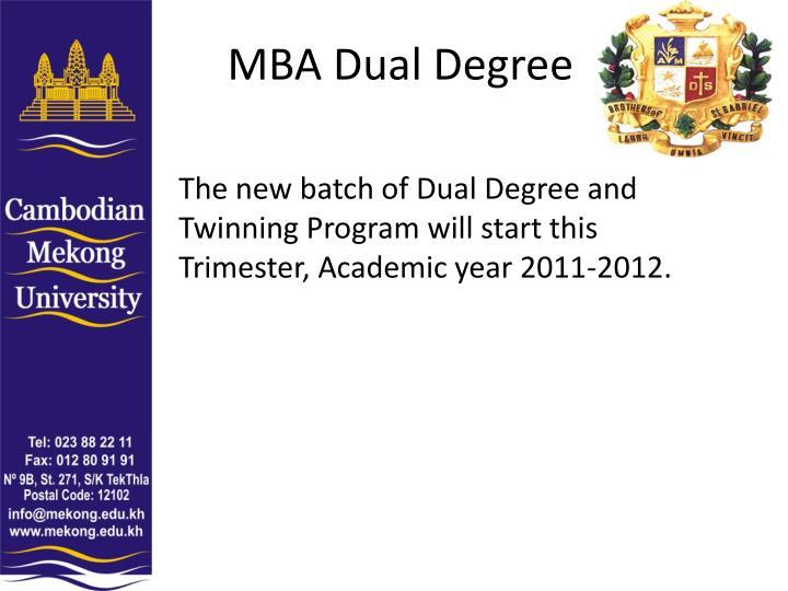 MBA Dual Degree