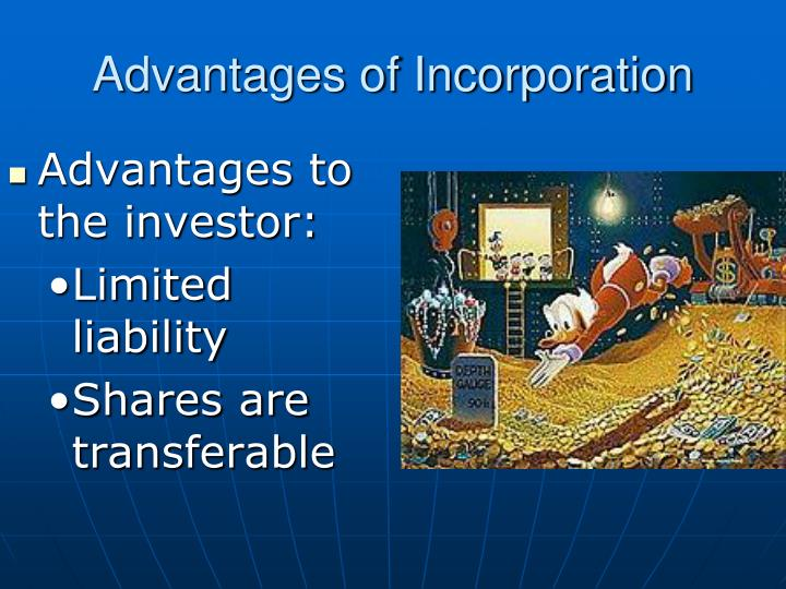 Advantages of Incorporation