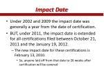 impact date