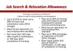 job search relocation allowances