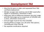 reemployment taa