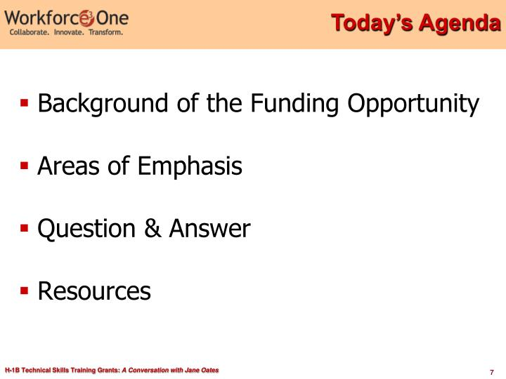 Background of the Funding Opportunity