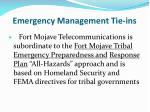 emergency management tie ins