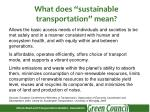 what does sustainable transportation mean