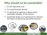 why should we be sustainable