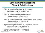 development inspections sites subdivisions1