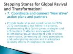 stepping stones for global revival and transformation
